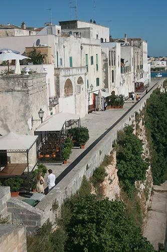 Lido la Castellana vista di Otranto Vecchia